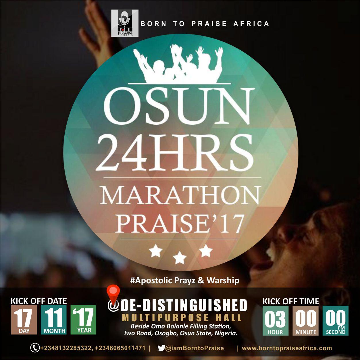 24 Hours Marathon Praise - Woodclef