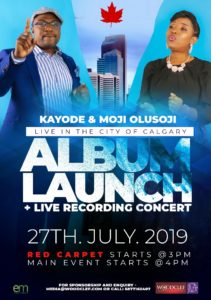 KAyode and Moji Olusoji Album Launch and Live Recording Concert